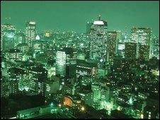 Tokyo's skyline at night