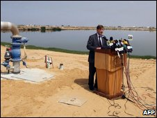 Maxwell Gaylard speaking in Gaza