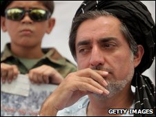 Abdullah Abdullah campaigns in Kandahar