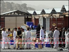 Ballot boxes in Kandahar on 21 August