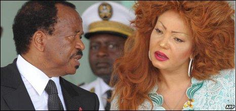 Paul Biya and his wife Chantal