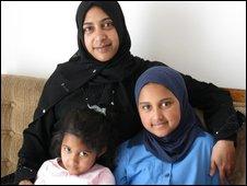 Nashita Davids, with her two children Kaashifa (with uniform) and Kauthar