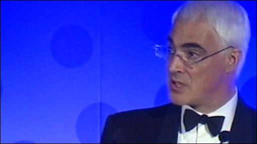 UK Chancellor Alistair Darling