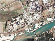 Satellite view of North Korea nuclear plant at Yongbyon (file)