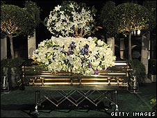 Michael Jackson's coffin
