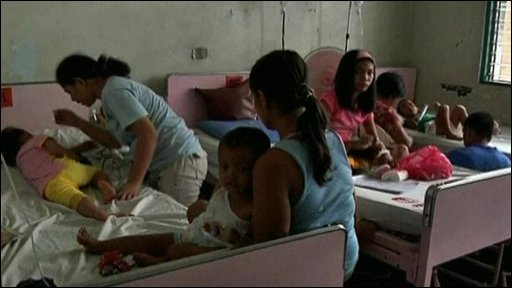 Room of dengue fever patients