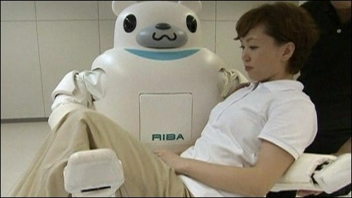 The robot nurse in action