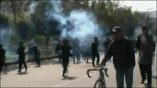 Tear gas appears to be used