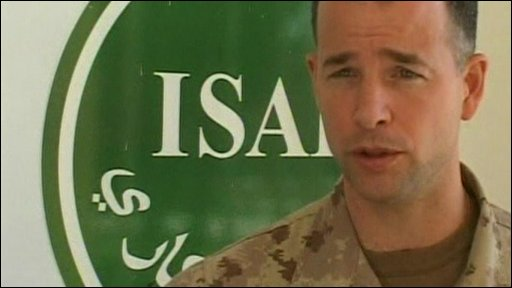Isaf spokesman Eric Tremblay