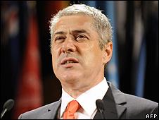 Portugal's Prime Minister Jose Socrates