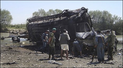 Scene of the blast in Kunduz