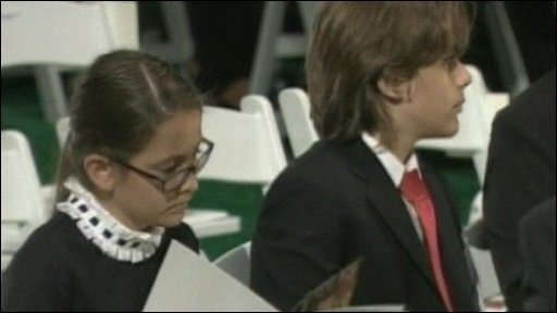 Michael Jackson's children at funeral