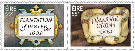 Stamps marking the Plantation of Ulster