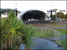Muse concert stage, Teignmouth
