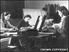 Women working at Bletchley Park