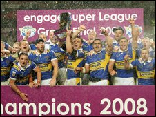 Leeds celebrate last season's Grand Final win