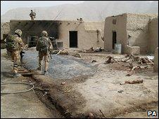 UK troops in Afghanistan 2.8.09