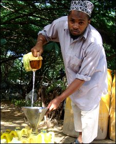 Mohamed Aden Suleyman at work in Mogadishu