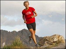 Diane Van Deren running