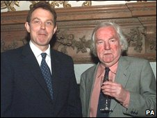 Keith Waterhouse and Tony Blair