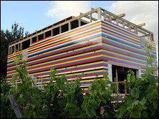 The nearly-finished Lego house [pic by Andy Newbold Photography ]