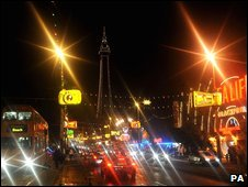 The 2009 Blackpool illuminations after the switch-on
