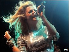 Pixie Lott performs at the Blackpool Illuminations switch-on