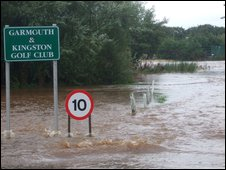 Flooded golf club [Pic: David Anderson]