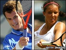Andy Murray and Laura Robson