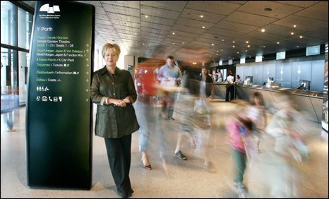 Judith Isherwood in the Wales Millennium Centre