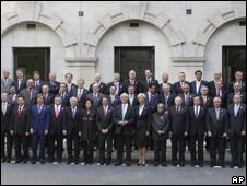 G20 finance ministers and other officials