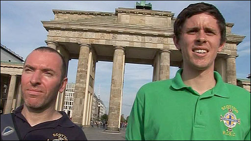 Northern Ireland supporters in Berlin