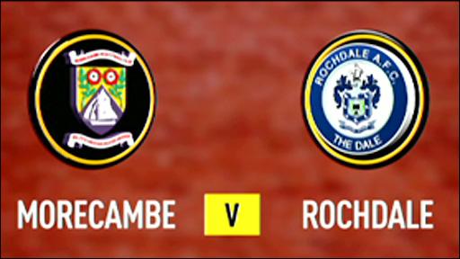 Morecambe 3-3 Rochdale
