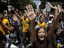 Anti-Chavez protesters fear his new education law