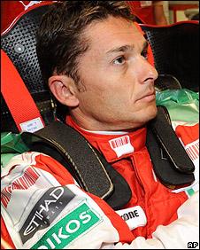 New Ferrari driver Giancarlo Fisichella