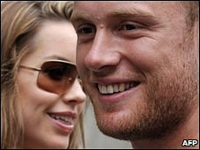 Rachael and Andrew Flintoff