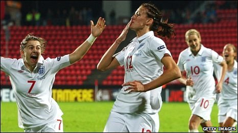Karen Carney, Jill Scott and Kelly Smith