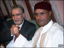 Saif al-Islam Gaddafi and Lockerbie bomber Abdel Baset al-Megrahi