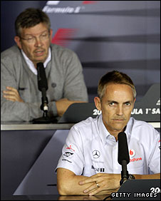 Brawn boss Ross Brawn and McLaren team principal Martin Whitmarsh