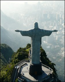 The statue of Christ the Redeemer overlooks Rio