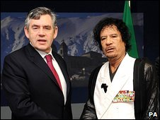 Gordon Brown and Col Gaddafi
