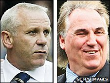 Peter Reid and Gerry Francis