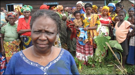 Grace Kodindo in a camp for displaced people in north west Congo