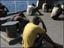 Suspected Somali pirates captured near the Seychelles in May