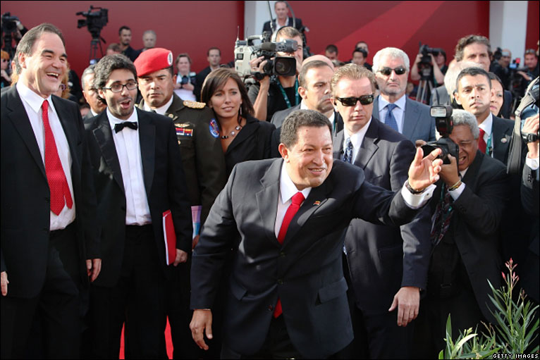 president Chaves on the red carpet