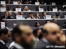 Climate conference delegates (Getty Images)