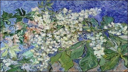 Van Gogh's Branches de Marrionniers en Fleurs