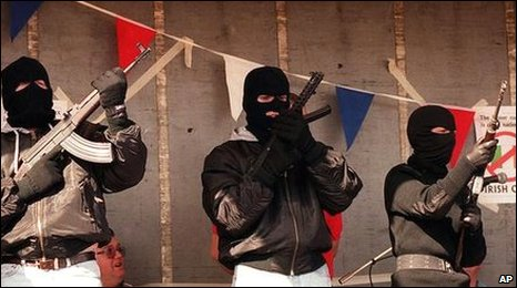 UDA show of strength Shankill Road during a rally in 2000. Pic Associated Press