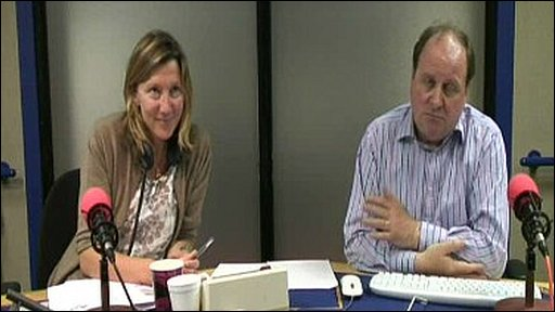 Sarah Montague and James Naughtie