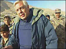 John Simpson outside Kabul